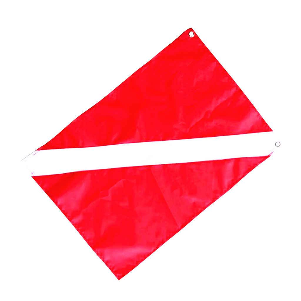 Tüplü dalış serbest dalış dalgıç aşağı bayrak emniyet sinyal işaretleyici afiş tekne bayrağı kırmızı beyaz dalış şnorkel sualtı spor