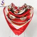 Primavera Outono Red Silk Scarf Shawl Impresso Venda Quente Vestuário Acessórios Mulheres Praça Cachecóis Wraps Novo Transporte Lenço De Seda Cape