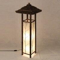 Светодиодный китайский Стиль Винтаж светлый бамбук лампы Освещение в помещении домашние декоративные Дизайн Фонари E27 японский бамбук тор