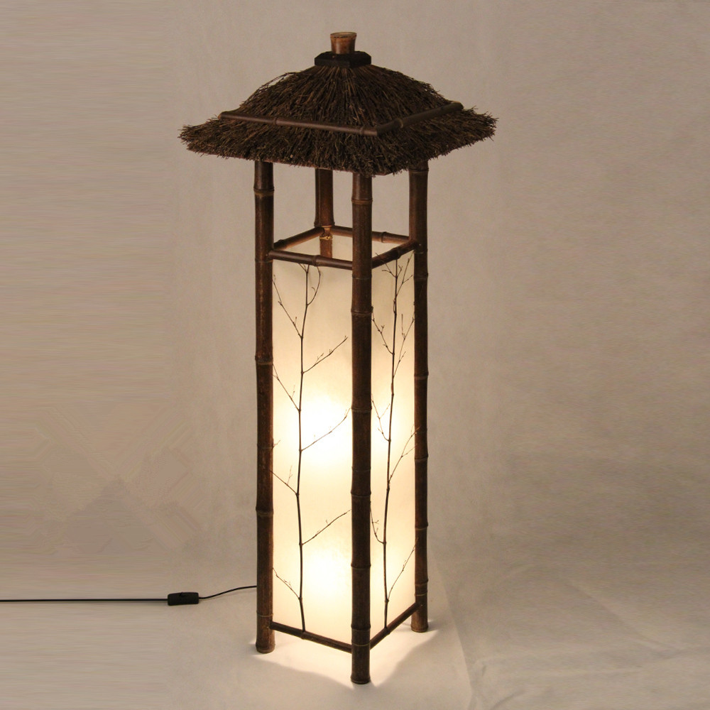 Us 139 0 Led Chinese Style Vintage Lamp Bamboo Light Indoor Lighting Home Decorative Design Lantern E27 Anese Floor Hotel In