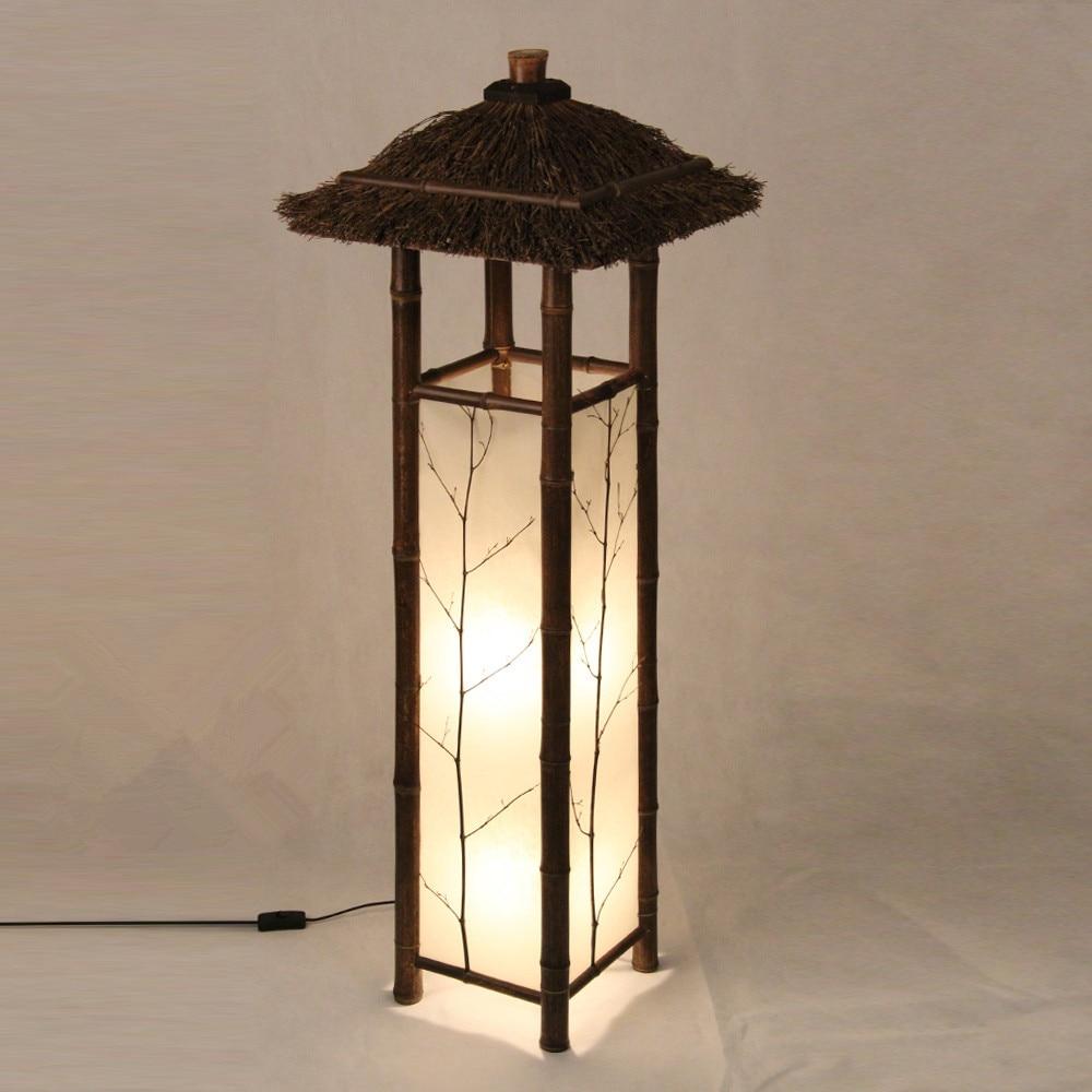 LED Chinese Style Vintage Lamp Bamboo Light Indoor Lighting Home Decorative Design  Lantern E27 Japanese Bamboo