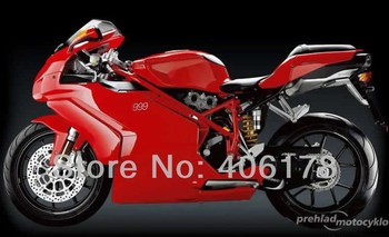 Motorcycles Aftermarket Kit 999 749 03 04 ABS fairing For 999s 749s 2003 2004 Red Fairings (Injection molding)