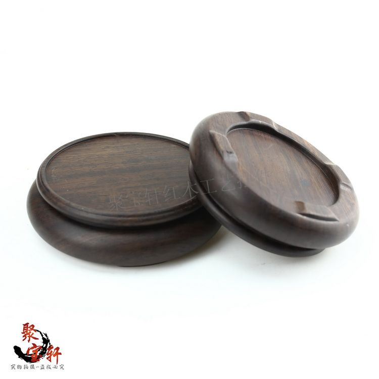 Jade stone are recommended seal round base solid wood whole carved wooden household act the role ofing is tasted small gifts