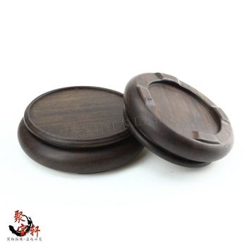 Jade stone are recommended seal round base solid wood whole carved wooden household act the role ofing is tasted small gifts base on the green sandalwood carvings handicraft furnishing articles kettle pot of buddha aquarium household act the role ofing