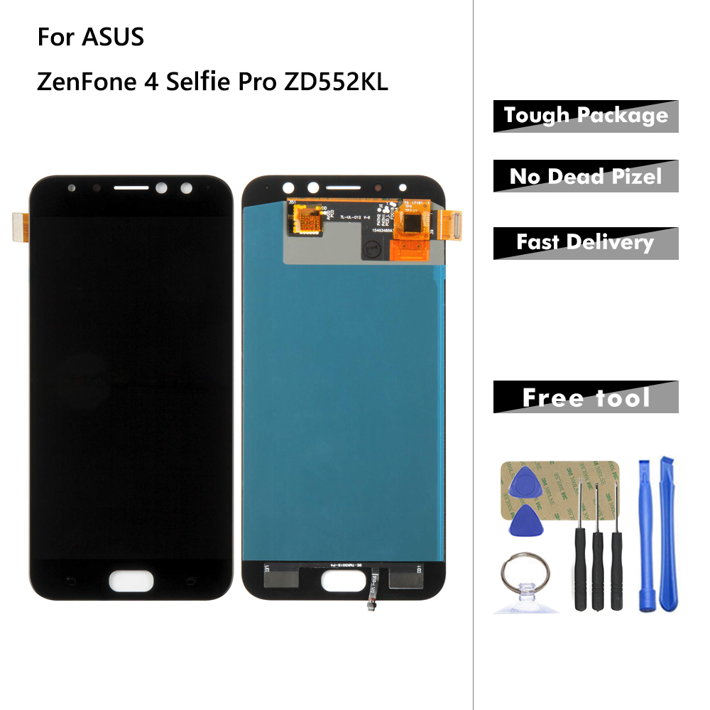 Display For ASUS ZenFone 4 Selfie Pro ZD552KL LCD Display Touch Screen Digitizer Assembly Replacement With Frame