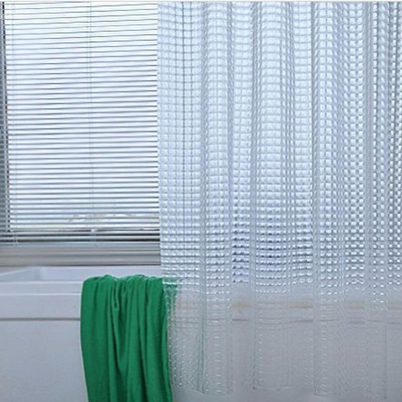 SDARISB Plastic PEVA 3d Waterproof Shower Curtain Transparent ...