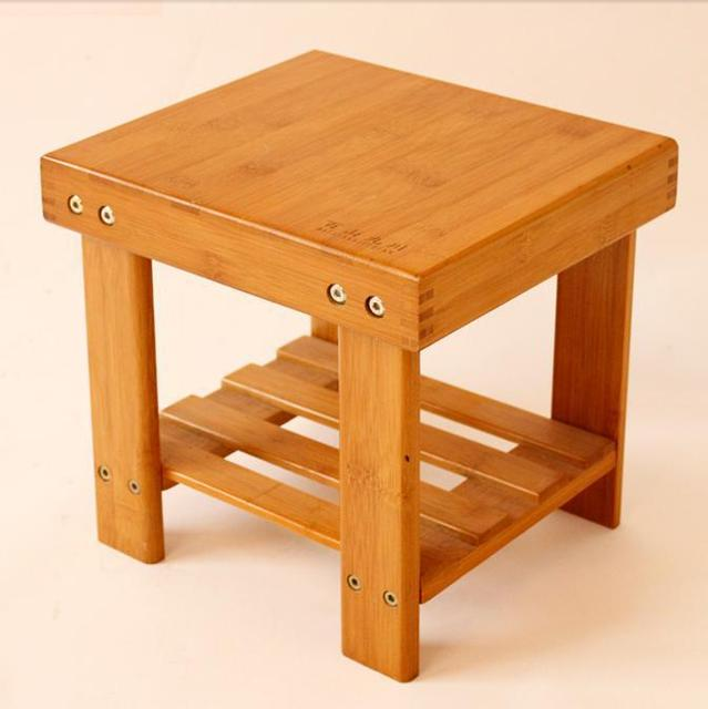 modern living room ASSEMBLED stool Durable bamboo made small bench ...