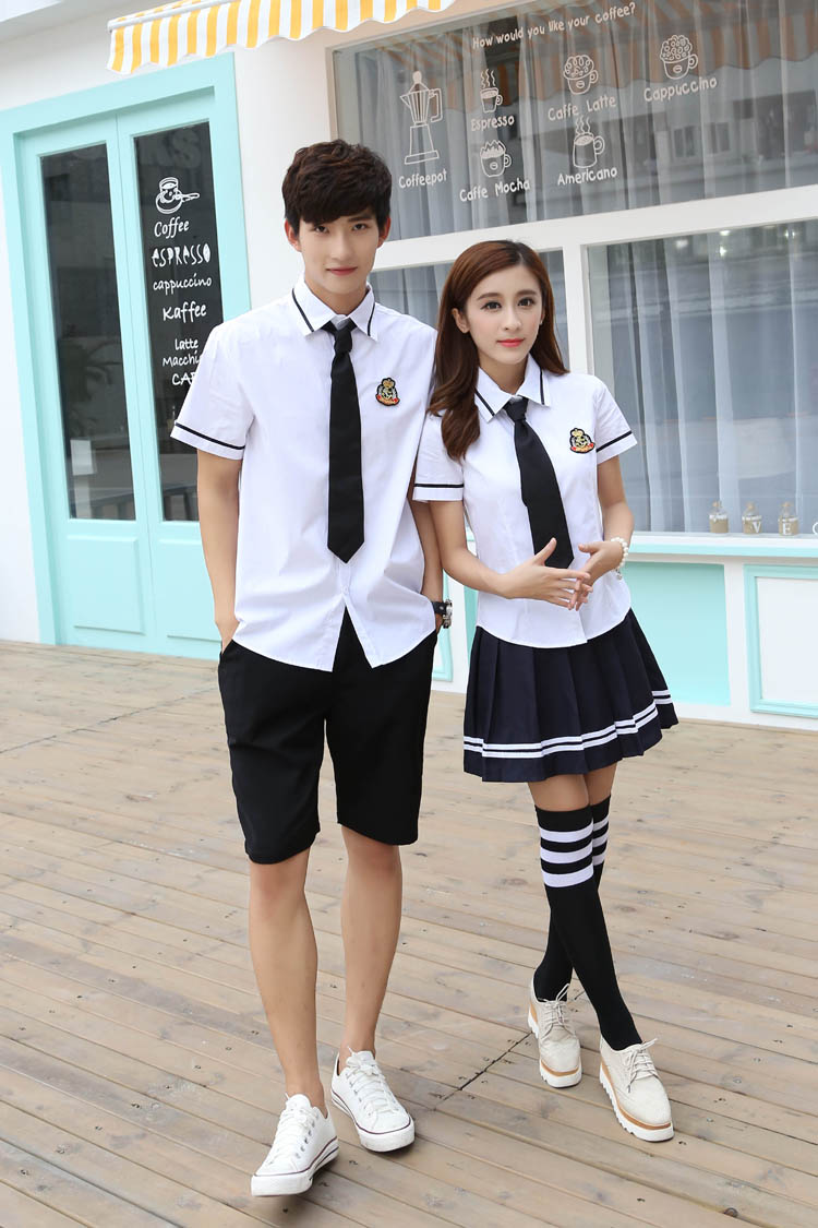 Korean school uniforms white Shirt + Skirt For Student ...