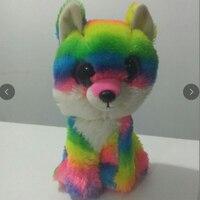 15cm Ty PONIES Beanie Boos Yokai Kunai Big Eyes Plush Stuffed Doll Toys Cute Multicolor Fox