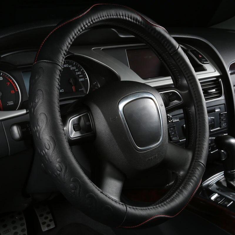car steering wheels cover genuine leather accessories for Pontiac Aztek Bonneville Fiero Firebird G3 G6 G8 Grand Am Grand Prix