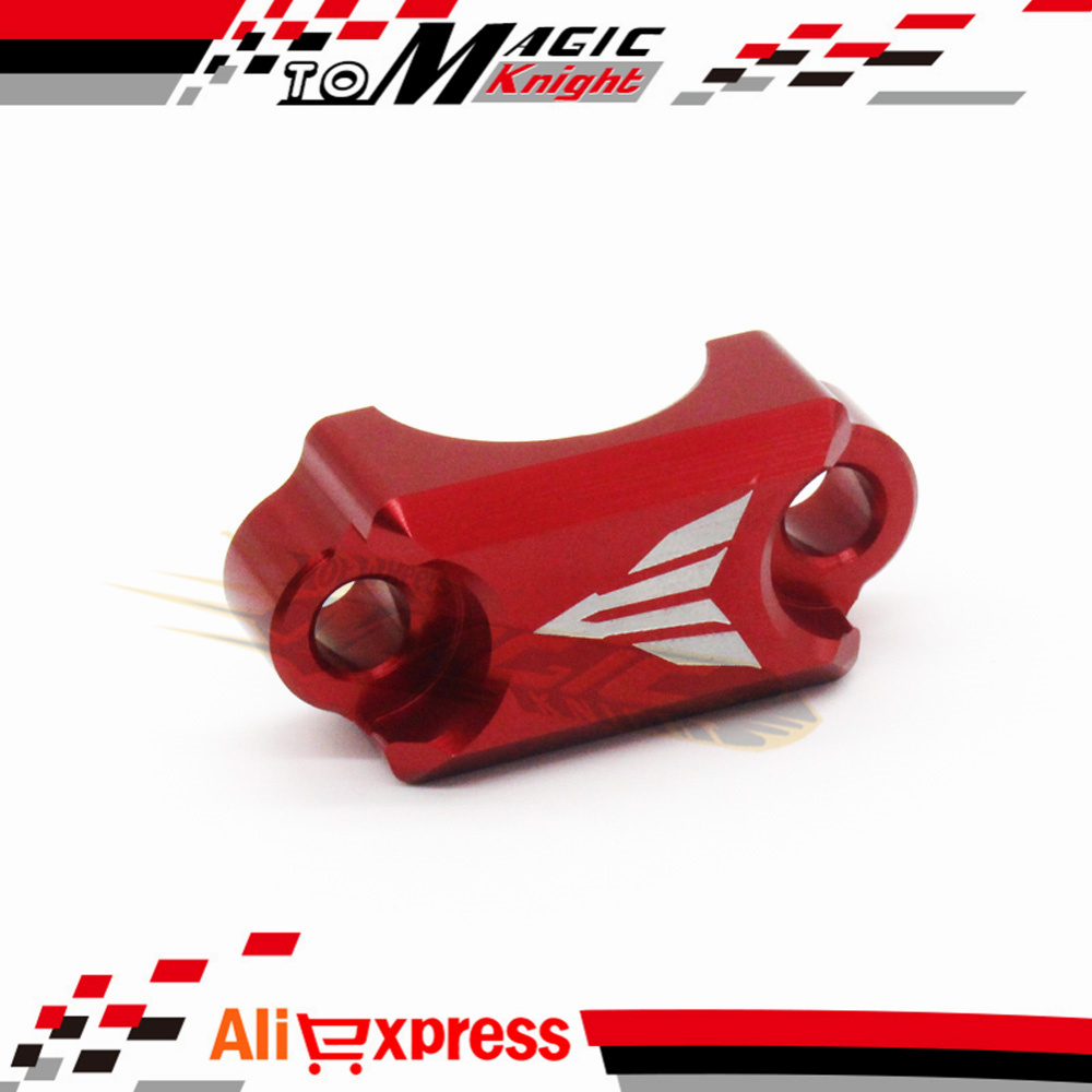 For YAMAHA FZ6 FZ1 FZ8 XJ6 XJR1300 Motorcycle CNC Brake Master Cylinder Clamp Handlebar Clamp Cover Red for yamaha fz6 fz1 fz8 xj6 xjr1300 motorcycle cnc aluminum brake master cylinder clamp handlebar clamp cover red