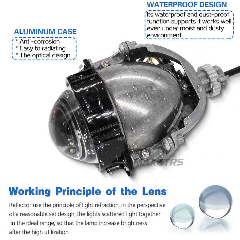 2019 MAXGTRS 3.0 polegada Carro Super Brilhante Auto Bi Lente Do Projetor LEVOU 6000 k Alta Baixa Feixe Bi-LED lente Do Farol Com Feixe Excelente