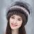 Mulheres chapéu 2016 Moda Real Rex Rabbit fur Inverno Flor na Bola Quente das Mulheres Negras Lady Genuine Coelho Cap