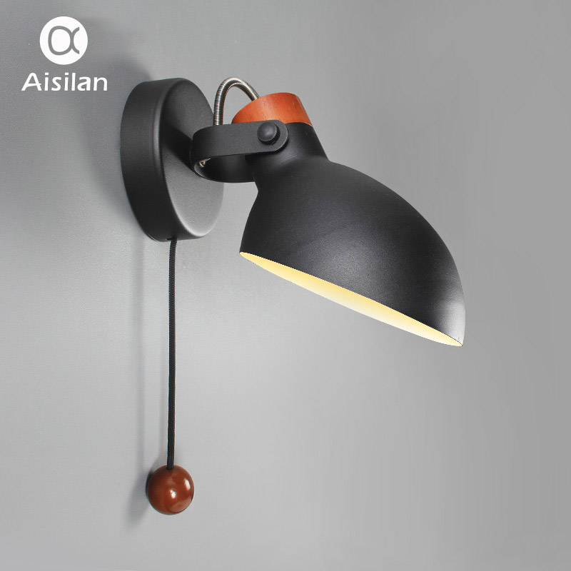 Aisilan Simple creative wall light led bedroom Foyer Study Nordic design living room corridor hotel wall lamps Hotel Corridor hotel wall light aisle study room mirror light bedroom hotel wall sconces personality restaurant corridor wall lamps bathroom