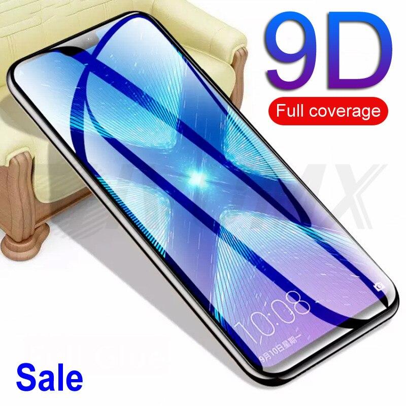 9D verre de protection sur le pour Huawei Honor 9 10 Lite V9 V10 8X 8A 8C Honor 20i 9i 10i V20 Film de protection d'écran trempé