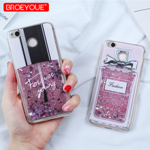 BROEYOUE Liquid Glitter Case For Redmi Note 5 Pro Note 4 4X Cartoon Cat Flower Bottle Quicksand Case For Redmi 4X 4A 5A Note 5(China)