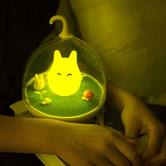 Criativo LED Night Lamp Gaiola Vibração Sensor de Toque Regulável Luz LED USB Luz Noturna Lâmpada de Cabeceira Do Bebê do Sono