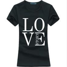 Kawaii Love Story letter Print Women t-shirt 2016 summer funny casual tee shirt femme fashion brand harajuku hipster punk tops