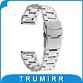 18mm banda de acero inoxidable con hebilla de bloqueo para huawei watch asus zenwatch 2 (1.45 ''/45mm) mujeres 2015 Smartwatch Correa de Pulsera