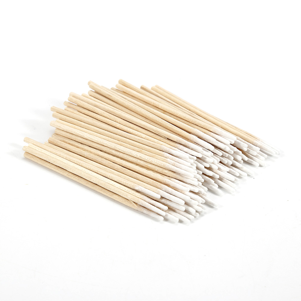 High Quality 100pcs Cotton Swab Health Makeup Cosmetics Ear Clean Cotton Swab Pointed Head Abacterial Medical  Accessories