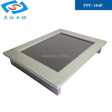 Hot Sale 10.4 inch with CPU Intel Atom D2550 1.86Ghz fanless all in one touch screen Industrial Panel PC