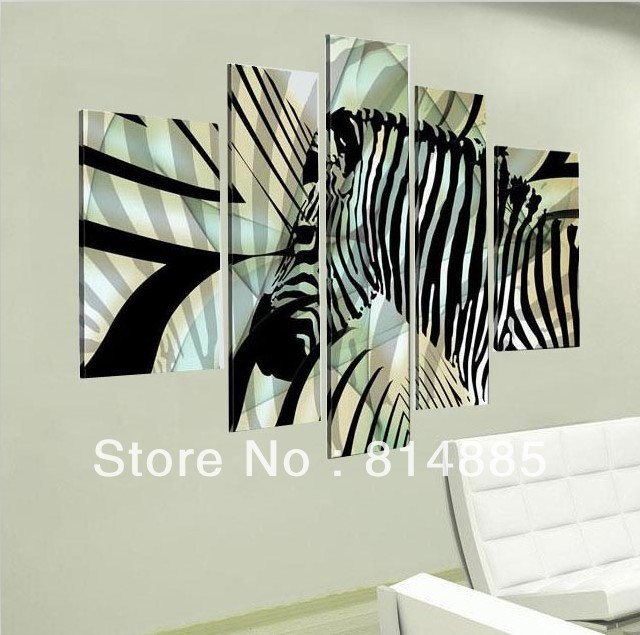 Zebra Wall Art white zebras promotion-shop for promotional white zebras on