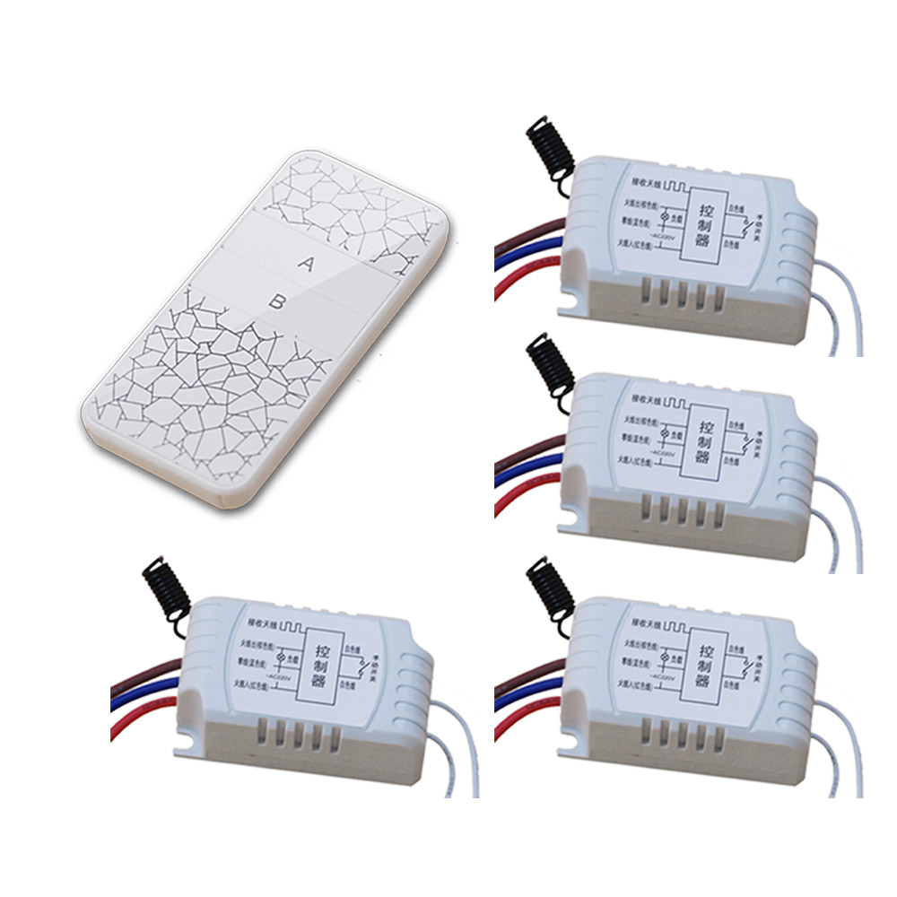 New Style White Color RF Remote Controller Switch Receiver 220V Wireless Transmitter with 2 Buttons 315/433MHZ Hot Sales new white color radio controller rf wireless remote control switch wall round transmitter with receiver best quality