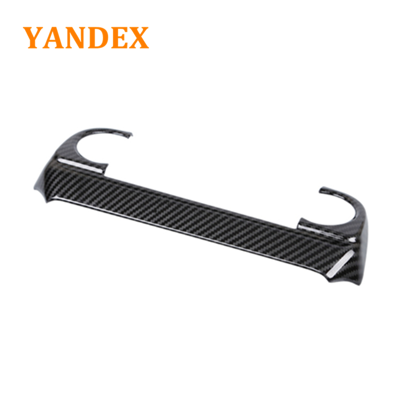 YANDEX ABS decoration carbon fiber black style Air conditioning panel cover 1pcs for MAZDA CX-5 CX5 2017 2018 Automatic комплект чехлов на весь салон seintex 86153 для mazda cx5 drive direct black