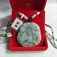 Zheru Jewelry Pure Natural Jadeite Green Lucky Horse Pendant Three color jadeite jade necklace Send A country inspection certif