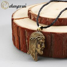CHENGXUN Ethnic Trible Character Pendant Necklaces Vintage Viking Valknut Amulet Talisman Jewelry for Women Men Gift(China)