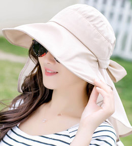 1384263a5728a Detail Feedback Questions about Waterproof Women Foldable Snapback Beach Hat  Lady Summer Neck Face Protection Sun Hat Hiking Trip Fishing Cap Panama  Female ...