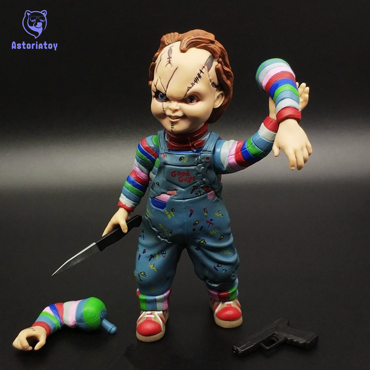 Child's Play Bride of Chucky 1/10 Scale Horror Doll Chucky PVC Action Figure Toy 12cm