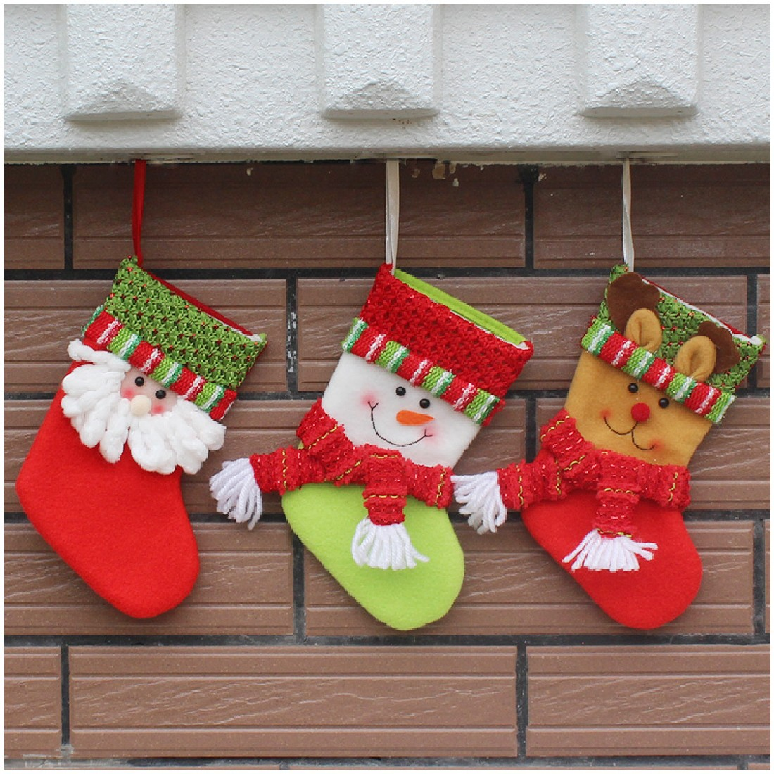 2016 New Year Lovely Vintage Christmas Stocking Snowman