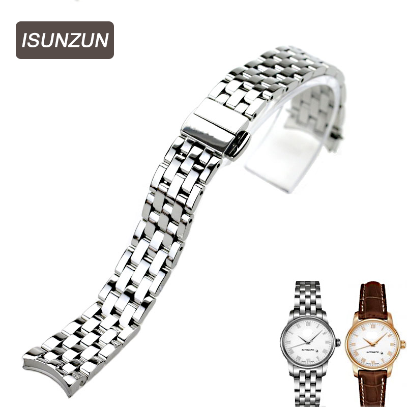 ISUNZUN Watch Band Women's For MIDO Baroncelli M003 M7600 Watch Strap Brand Stainless Steel Watchbands For Women Free Shipping isunzun watch bands for tissot 1853 t045 407a t045 harbor series steel strip brand watch straps stainless steel watch chain