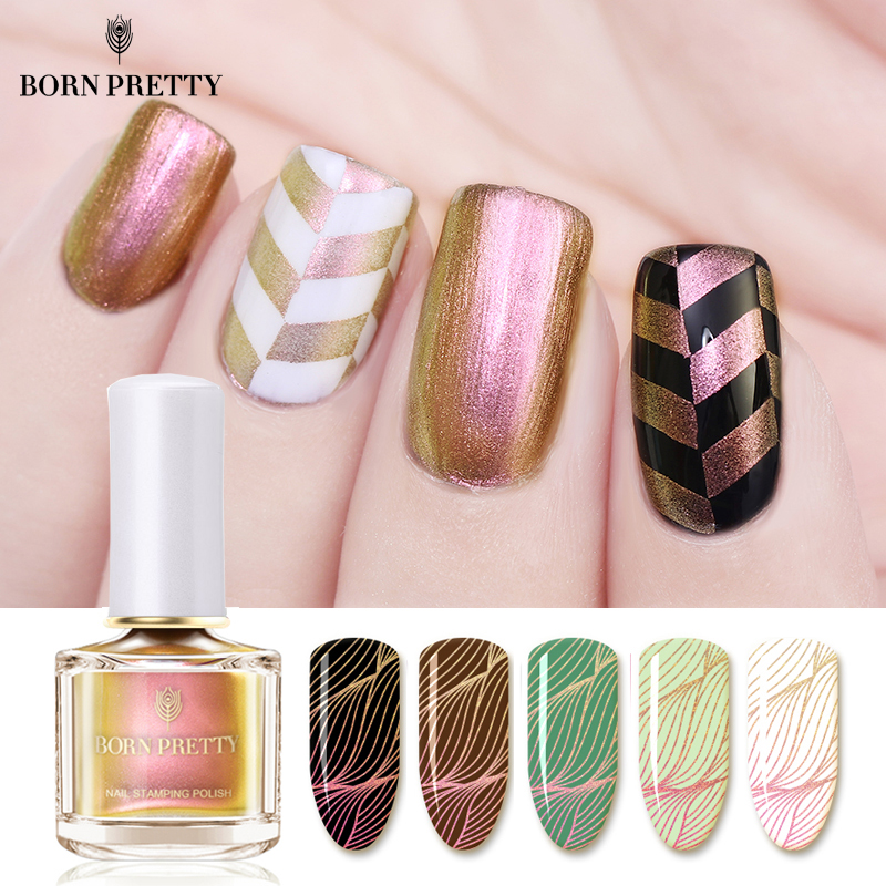 купить BORN PRETTY Chameleon Pearl Nail Stamping Polish 6ml Colorful Nail Art Plate Printing Nail Lacquer по цене 299.19 рублей