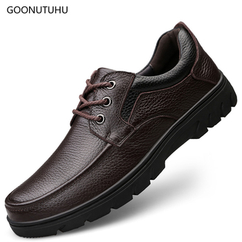 2019 spring winter men's dress shoes genuine leather cow lace-up big size 13 shoe man classic black & brown formal shoes for men