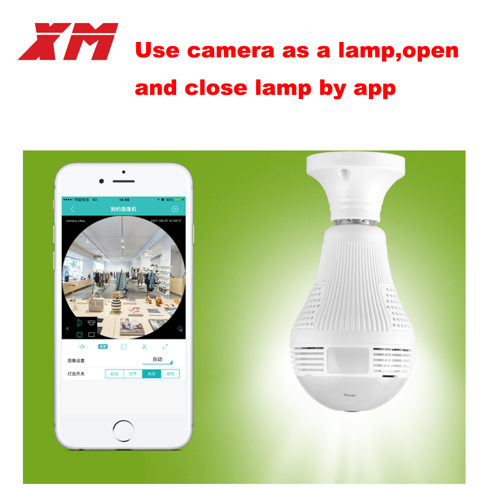 Image 3 - 360 Panoramin Smart Home Safty Wifi 960P VR Camera LED Bulb Security Camcorder Motion Detection CCTV Support PC Tablet Phonewifi 960pmotion detectionwifi home phone -