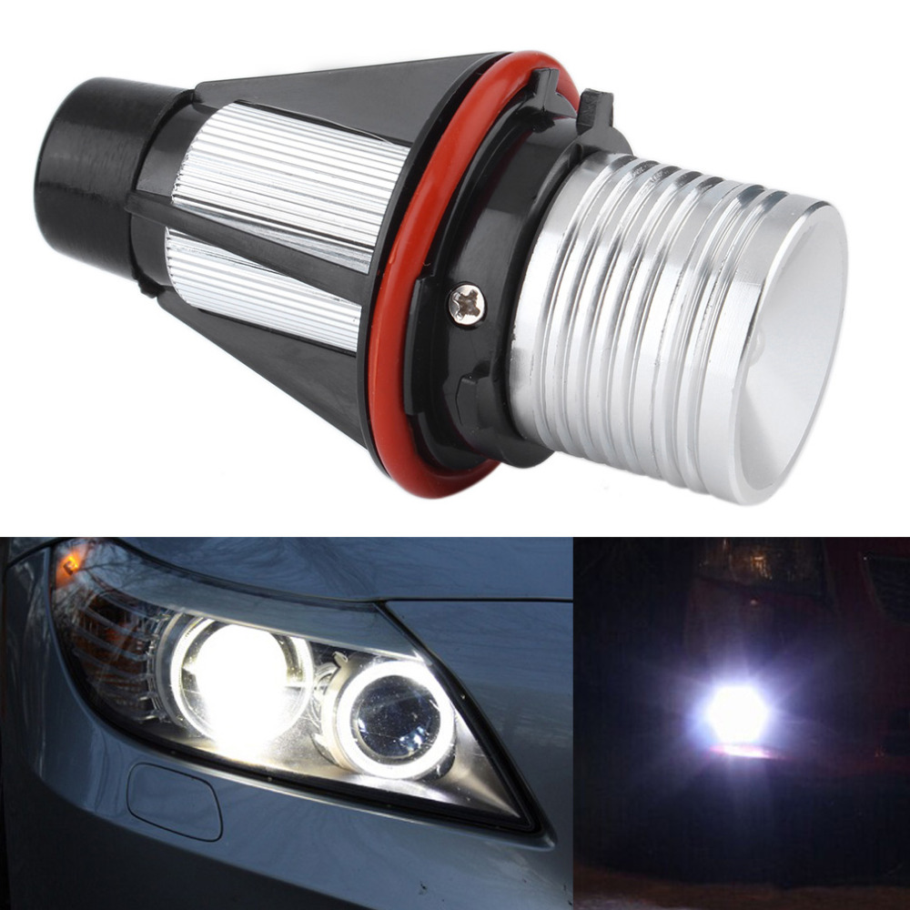 Top Quality1Pair 2*5W 10W Car 6000K White 5W Angel Eyes LED Light Lamp For BMW E39 E53 E60 E61 Hot Selling