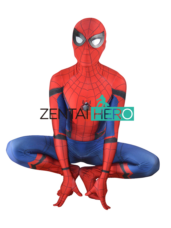 ZentaiHero New Spider-Man Homecoming Costume 3D Printing High Quality New Spiderman Superhero Costume For Halloween Cosplay