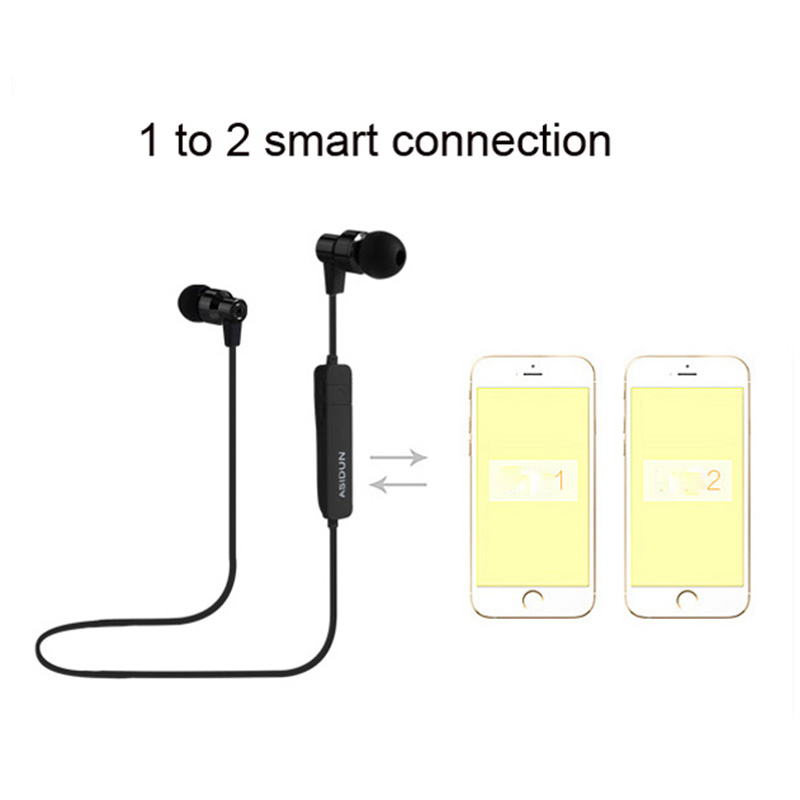 Fashion Wireless Bluetooth Earphone Running In ear earphone Metal Headset Sport Earbud handsfree with mic for mobile phone