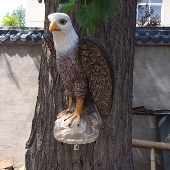 ZILIN Solar Powered Attack Eagle Decoy , Could Sound and Rotate