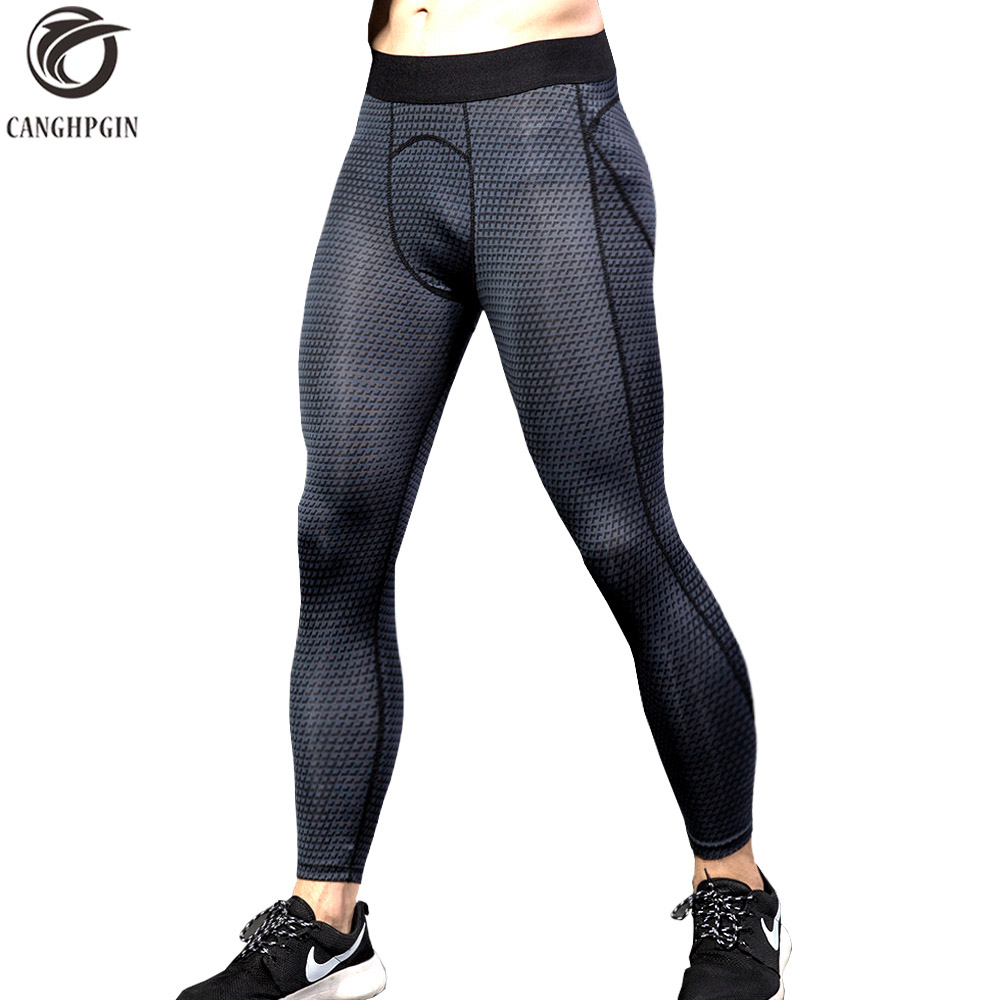 2018 New Compression Pants Sports Running Tights Men Fitness Jogging Skinny Leggings Gym Run Elastic Mens Trousers Sportswear