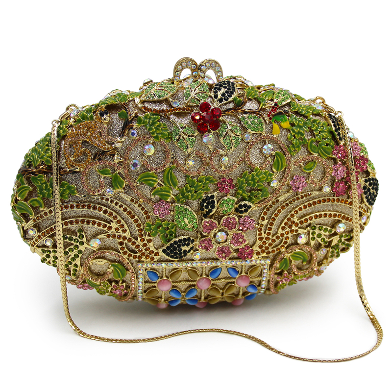 DAIWEI Luxury evening bag Crystal women party purse bags Ladies wedding bridal formal clutch bags banquet bag Day Clutches BL092 lolibox women bag rhinestone crown sequins glitter clutch bag crossbody bags for women day clutches ladies evening banquet bag