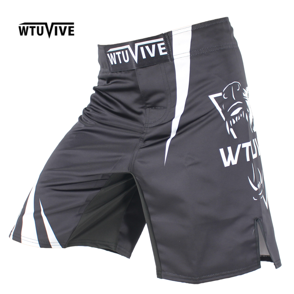 WTUVIVE 2017 new boxing features sports training Thai fist fitness personality fight flat angle shorts MMA muay thai clothing