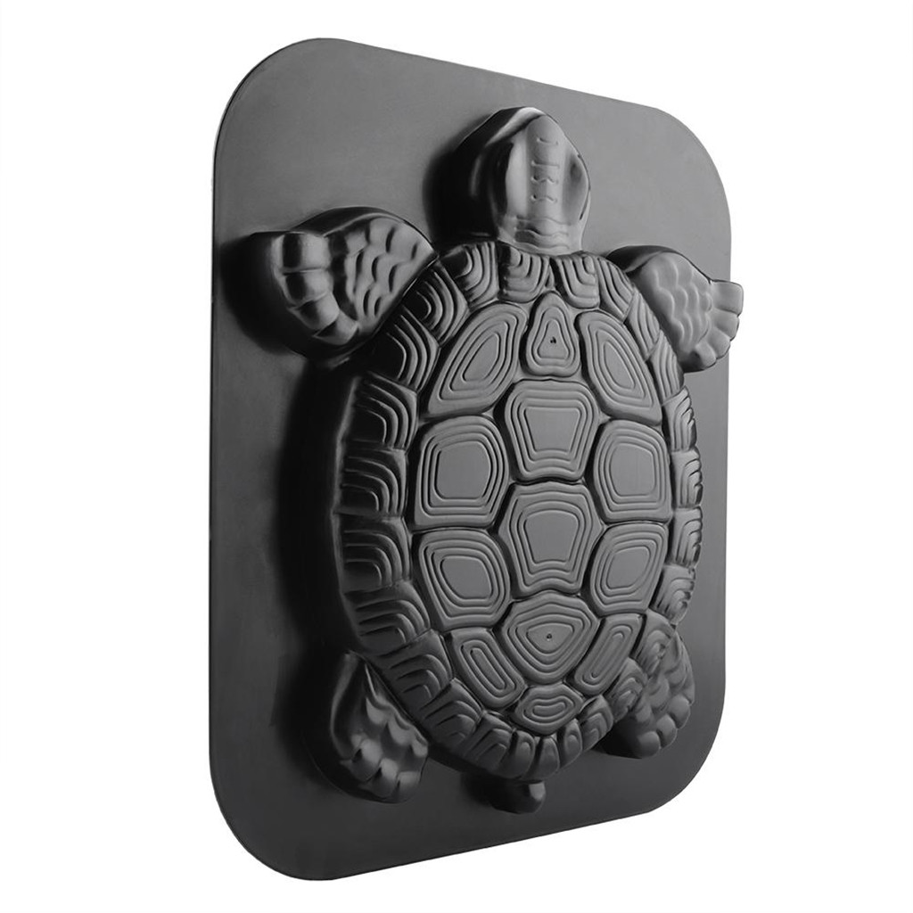 New Arrival Special Design Black Reusable Driveway Paving Pavement Mold Patio Concrete Stepping Stone Path Maker Turtle