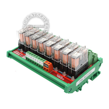 8 Omron relay module module control board driver board output boards PLC enlarged board 8L2-24V