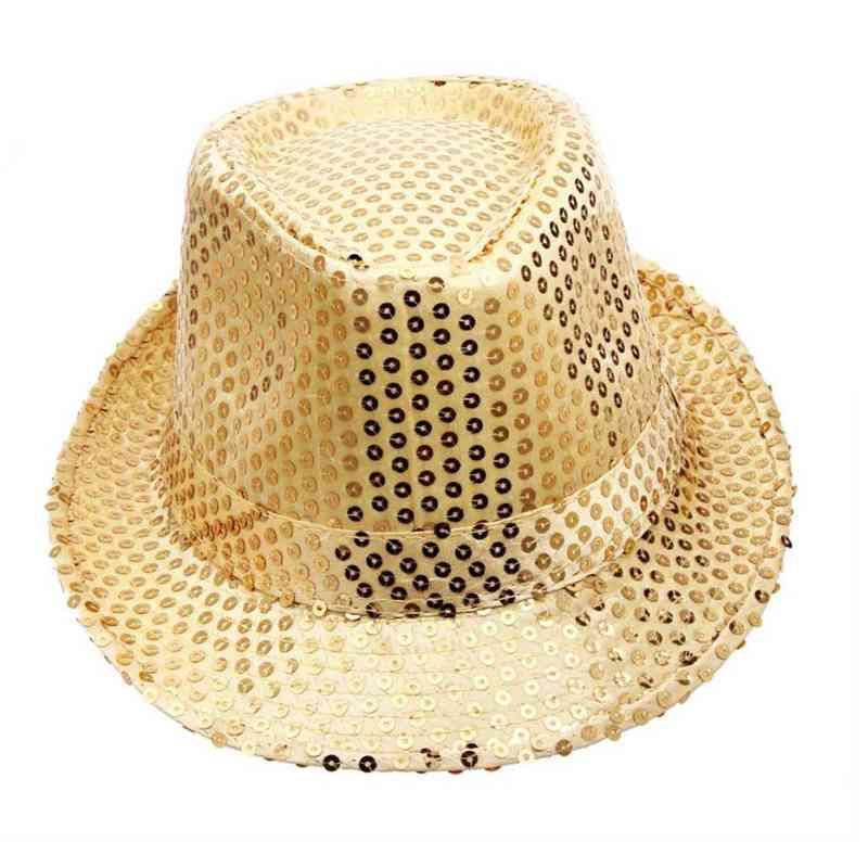 2016 Top Wide Brim Hat Fedora Cappelli Per Le Donne Degli Uomini Jazz Caps Unisex Beach Visiera Del Cappello Breve Sequins Di Stile Adulto Crochet Unisex # O