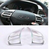 Interior Steering Wheel Button Cover Trim For Hyundai Elantra Avante 2016 2017