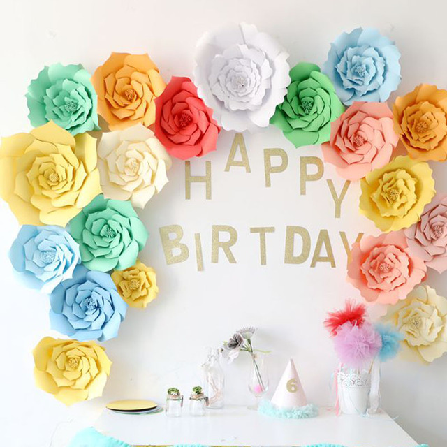 2018 New 2pcs Diy Paper Flower Backdrop 20cm Kids Birthday