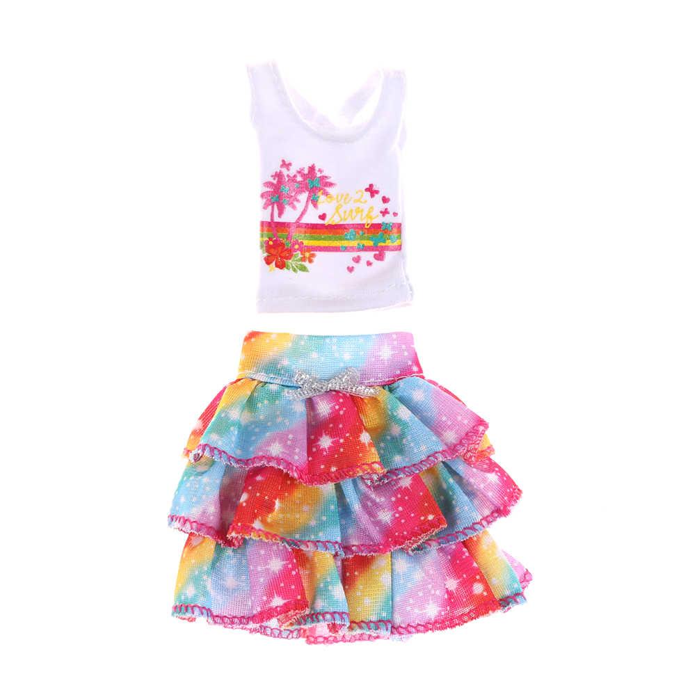 Para boneca original roupas vestido menina melhor presente boneca original um conjunto moda saia vestido de festa